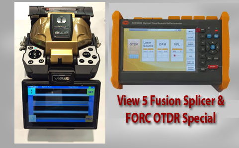 View 5 Fusion Splicer with FORC OTDR