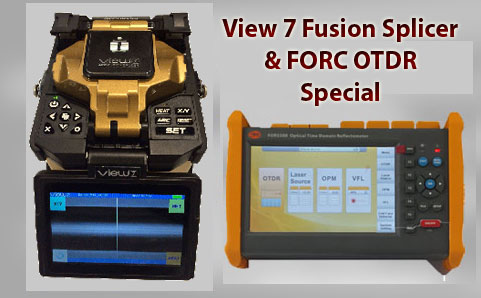 View 7 Fusion Splicer with FORC OTDR