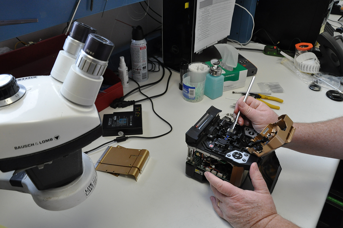 Fusion Splicer Calibration Amp Cleaning Fiberoptic