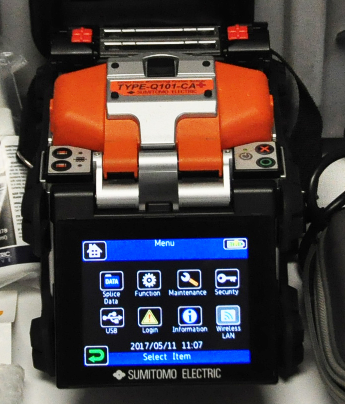 Sumitomo Quantum Type-Q101-CA Plus Fusion Splicer Front Screen Demo Unit