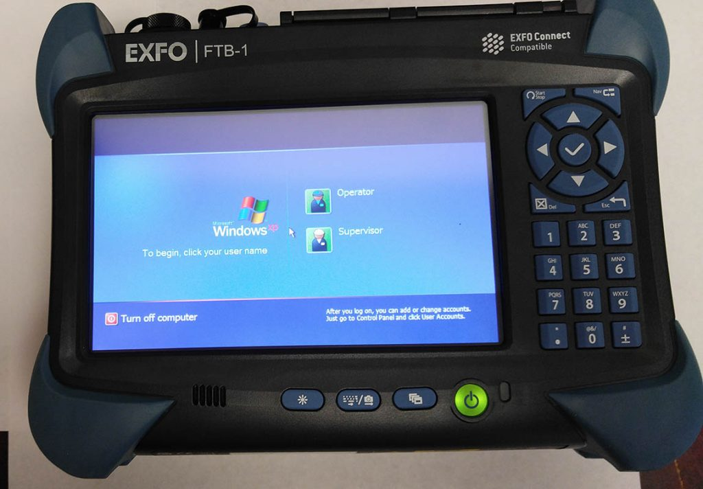 EXFO FTB-1 OTDR with FTB-720 Module Home Screen