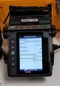 Fujikura FSM-70R Screen