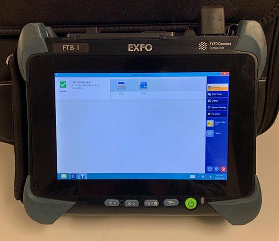 EXFO FTB-1-720C-Q-EA-E1 Screen