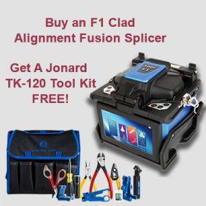 FORC F1 Clad Alignment Splicer with Jonard TK-120 Tool Kit Free